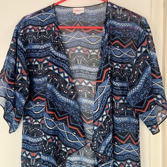 LulaRoe Monroe Kimono/Swimsuit Coverup